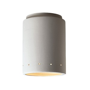 Radiance Bisque LED Cylindrical Outdoor Flush Mount with Perforations