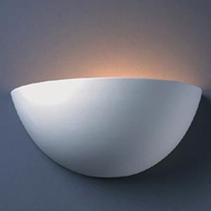 Large Quarter Sphere Wall Sconce