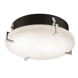 Clouds Polished Chrome 12-Inch Wide LED Round Clips Flush Mount