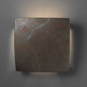 Square Tierra Red Slate Wall Sconce