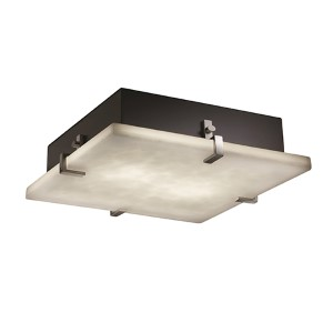 Clouds Brushed Nickel 24-Inch Wide LED Square Clips Flush Mount