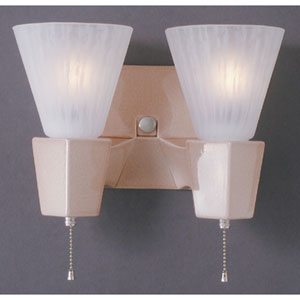 Geo Rectangular Double-Arm Wall Sconce