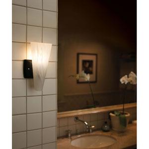 Euro Classics Terra Cotta Geo Rectangular Torch Bathroom Wall Sconce