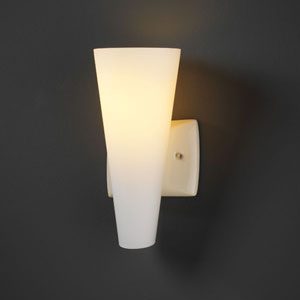 Euro Classics Vanilla Gloss Geo Rectangular Torch Bathroom Wall Sconce