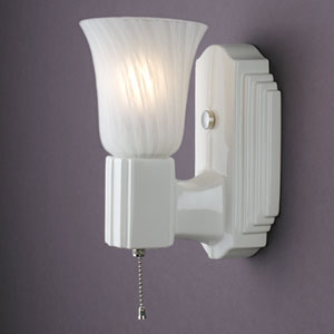 Deco Rectangle Uplight Sconce
