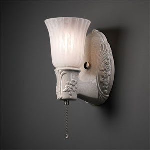 American Classics Sienna Brown Crackle Heirloom Oval With Uplight Glass Shade Bathroom Wall Sconce