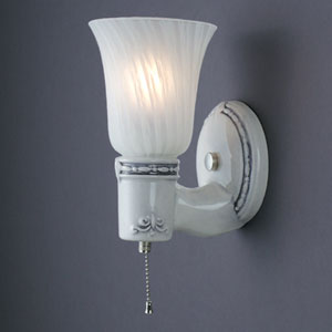 Vintage Round Uplight Wall Sconce