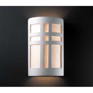 Ambiance Granite Small Cross Window Bathroom Wall Sconce