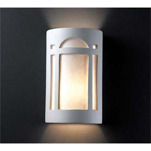Ambiance Real Rust Small Arch Window Bathroom Wall Sconce