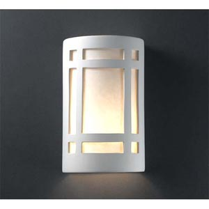Ambiance Rust Patina Small Craftsman Window Bathroom Wall Sconce