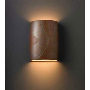 Ambiance Tierra Red Slate Large Wall Sconce