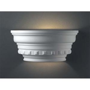 Curved Dentil Molding Wall Sconce