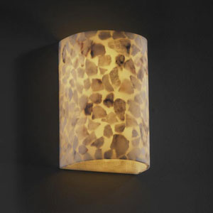 Alabster Rocks! Small Cylinder 1000 Lumen LED Wall Sconce with Open Top and Bottom
