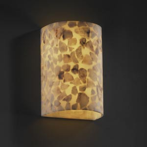 Alabster Rocks! Small Cylinder Sconce with Open Top and Bottom