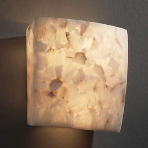 Alabaster Rocks! Square 1000 Lumen LED Wall Sconce