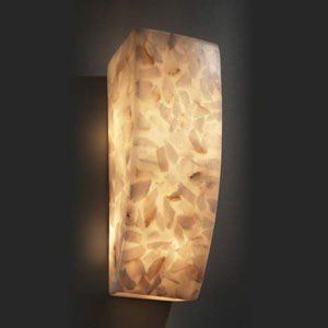 Alabaster Rocks! Rectangle 1000 Lumen LED Wall Sconce