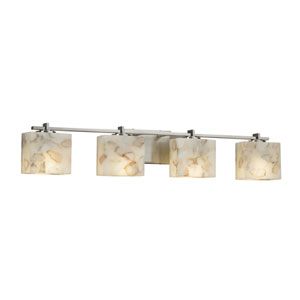 Alabaster Rocks! - Era Brushed Nickel Four-Light LED Bath Vanity with Cream Shaved Alabaster Rocks