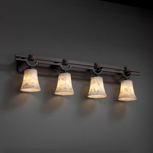 Alabaster Rocks! Argyle Four-Light Dark Bronze Bath Fixture
