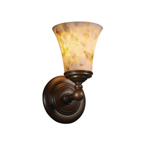 Alabaster Rocks! Tradition Dark Bronze Wall Sconce