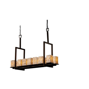 Alabaster Rocks! Montana 14-Light Dark Bronze Tall Bridge Chandelier