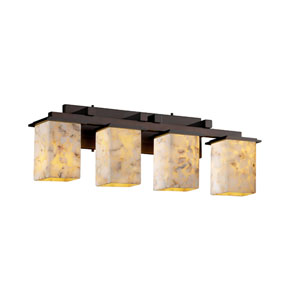 Alabaster Rocks! Montana Four-Light Dark Bronze Bath Fixture