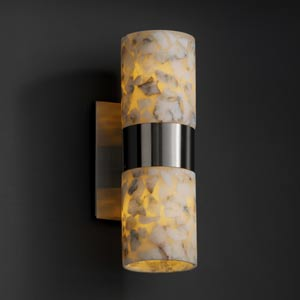 Alabster Rocks! Dakota Up and Downlight Two-Light Sconce