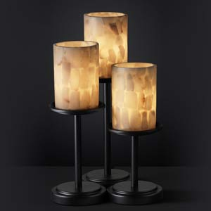 Alabaster Rocks! Dakota Three-Light Table Lamp