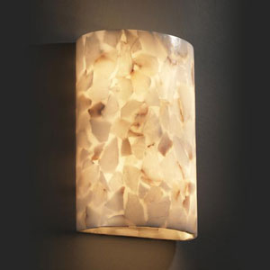 Alabster Rocks! Small Cylinder 1000 Lumen LED Wall Sconce