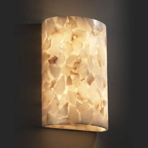 Alabaster Rocks! Large Cylinder 2000 Lumen LED Wall Sconce