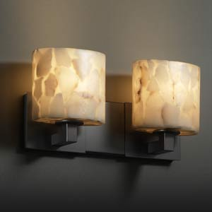 Alabaster Rocks! Modular Two-Light Wall Sconce