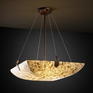 Alabster Rocks! 36-Inch Bowl Pendant with U-Clips