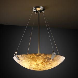 Alabster Rocks! 48-Inch Bowl Pendant with U-Clips