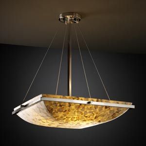Alabster Rocks! 24-Inch Square Bowl Pendant with Ring