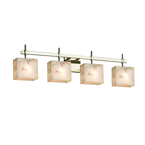 Alabaster Rocks! Brushed Nickel 32.5-Inch LED Bath Bar
