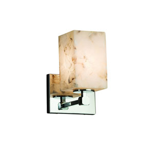 Alabaster Rocks!  Polished Chrome 6-Inch LED Wall Sconce