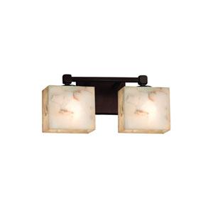 Alabaster Rocks! Dark Bronze 14.5-Inch LED Bath Bar