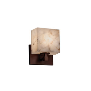 Alabaster Rocks! Dark Bronze 6-Inch LED Wall Sconce