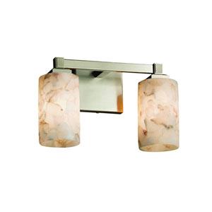 Alabaster Rocks! Brushed Nickel 13-Inch LED Bath Bar