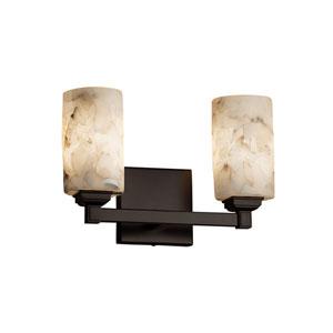 Alabaster Rocks! Dark Bronze 13-Inch LED Bath Bar