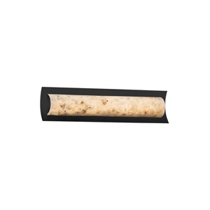 Alabaster Rocks!  Matte Black 21.5-Inch LED Bath Bar