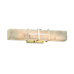 Alabaster Rocks!  Polished Chrome 21.5-Inch LED Bath Bar