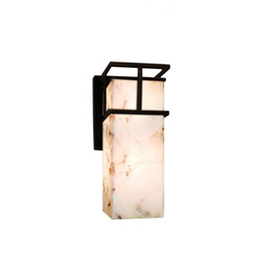 Alabaster Rocks! Dark Bronze 4.5-Inch Outdoor LED Wall Sconce