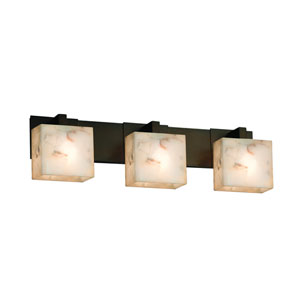 Alabaster Rocks! Dark Bronze 27-Inch LED Bath Bar