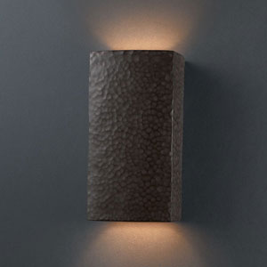 Ambiance Antique Copper Small Rectangle Bathroom Wall Sconce