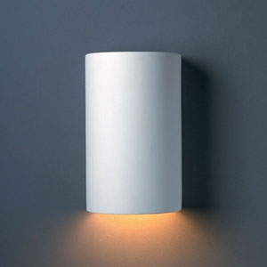 Ambiance Vanilla Gloss Small Cylinder Bathroom Wall Sconce