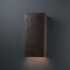 Ambiance Vanilla Gloss Large Rectangle Bathroom Wall Sconce