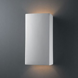 Ambiance Bisque Large Rectangle Two-Light Bathroom Wall Sconce