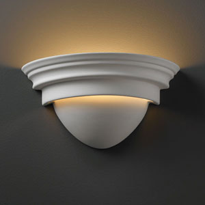 Ambiance Bisque Classic Bathroom Wall Sconce