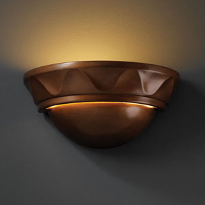 Ambiance Antique Patina Small Cyma With Waves Bathroom Wall Sconce
