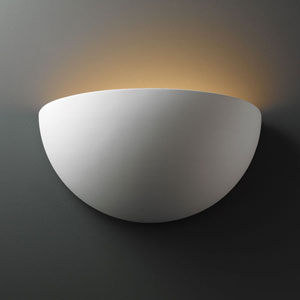 Ambiance Bisque Really Big Quarter Sphere Two-Light Bathroom Wall Sconce